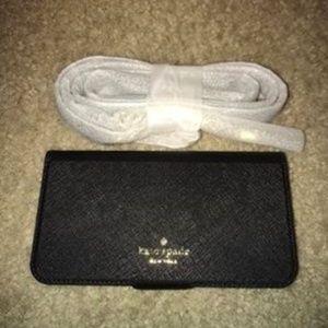 Kate Spade Black Wristlet Wallet Iphone X Case